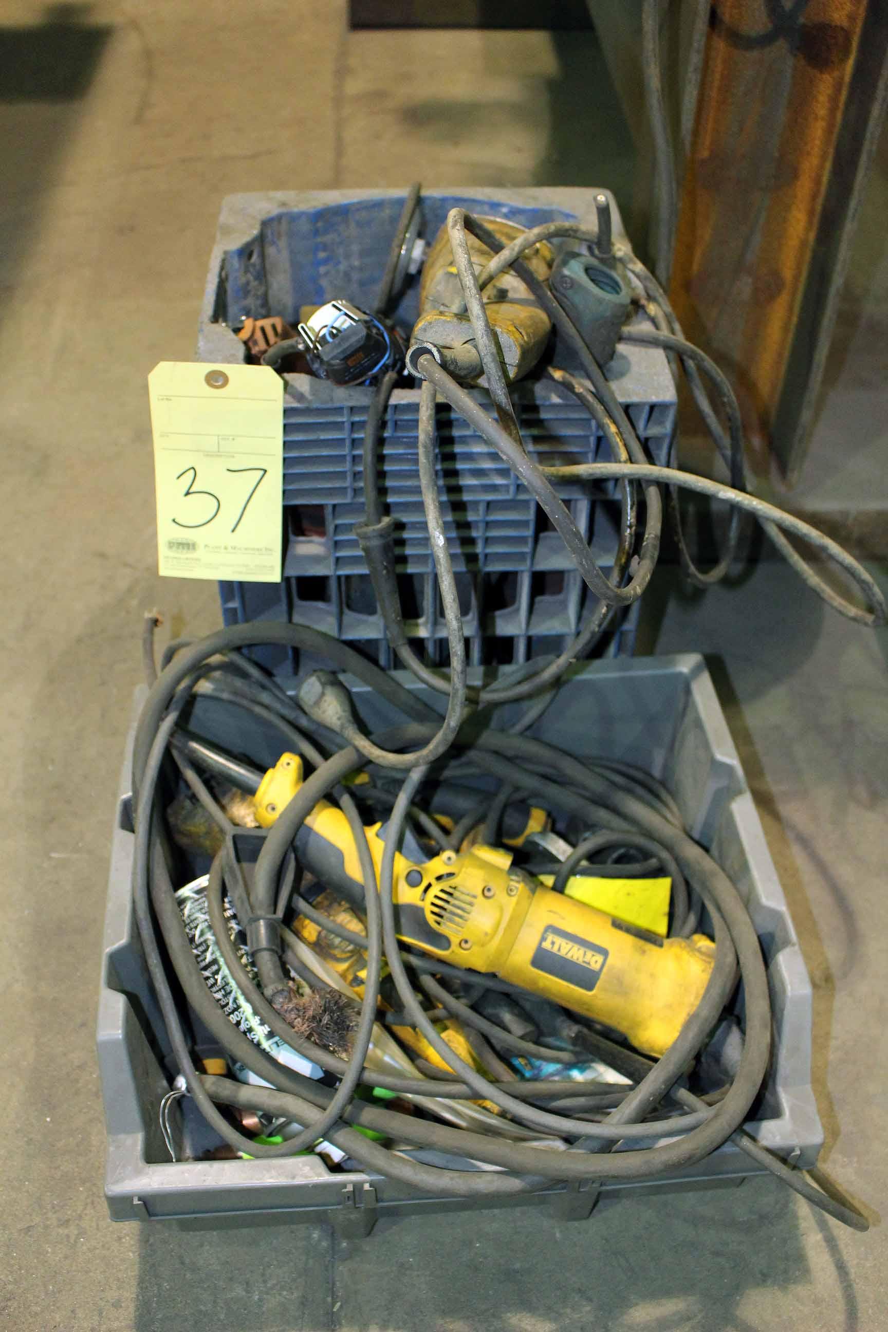 Lot 37 - LOT OF ELECTRIC GRINDERS, broken