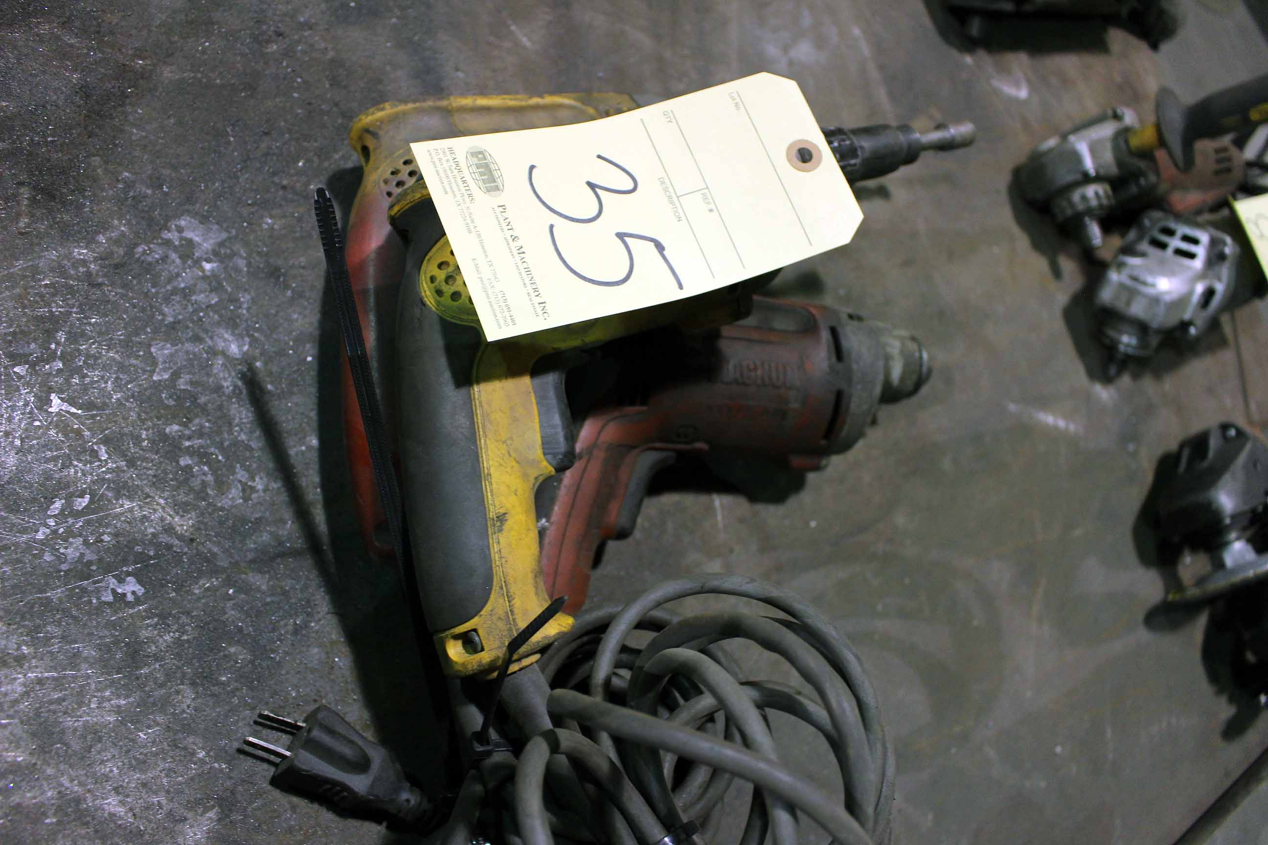 Lot 35 - LOT OF ELECTRIC DRILLS