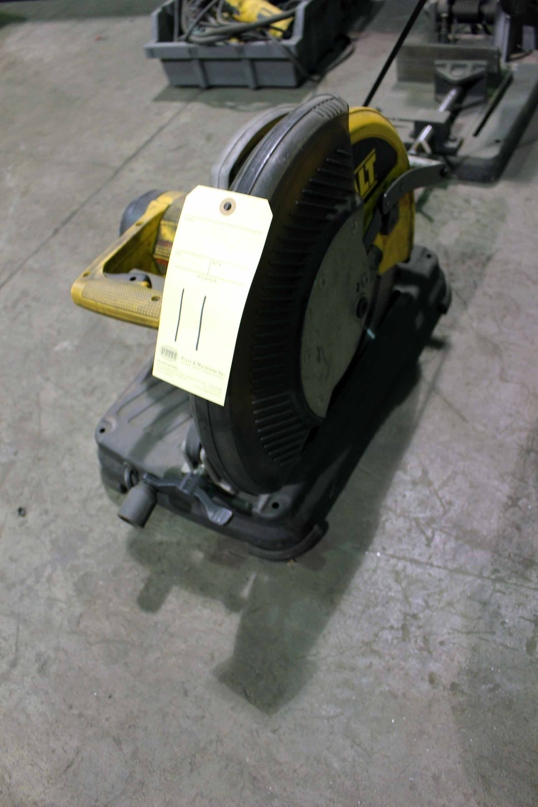 Lot 11 - ELECTRIC CHOP SAW, DEWALT, 14""