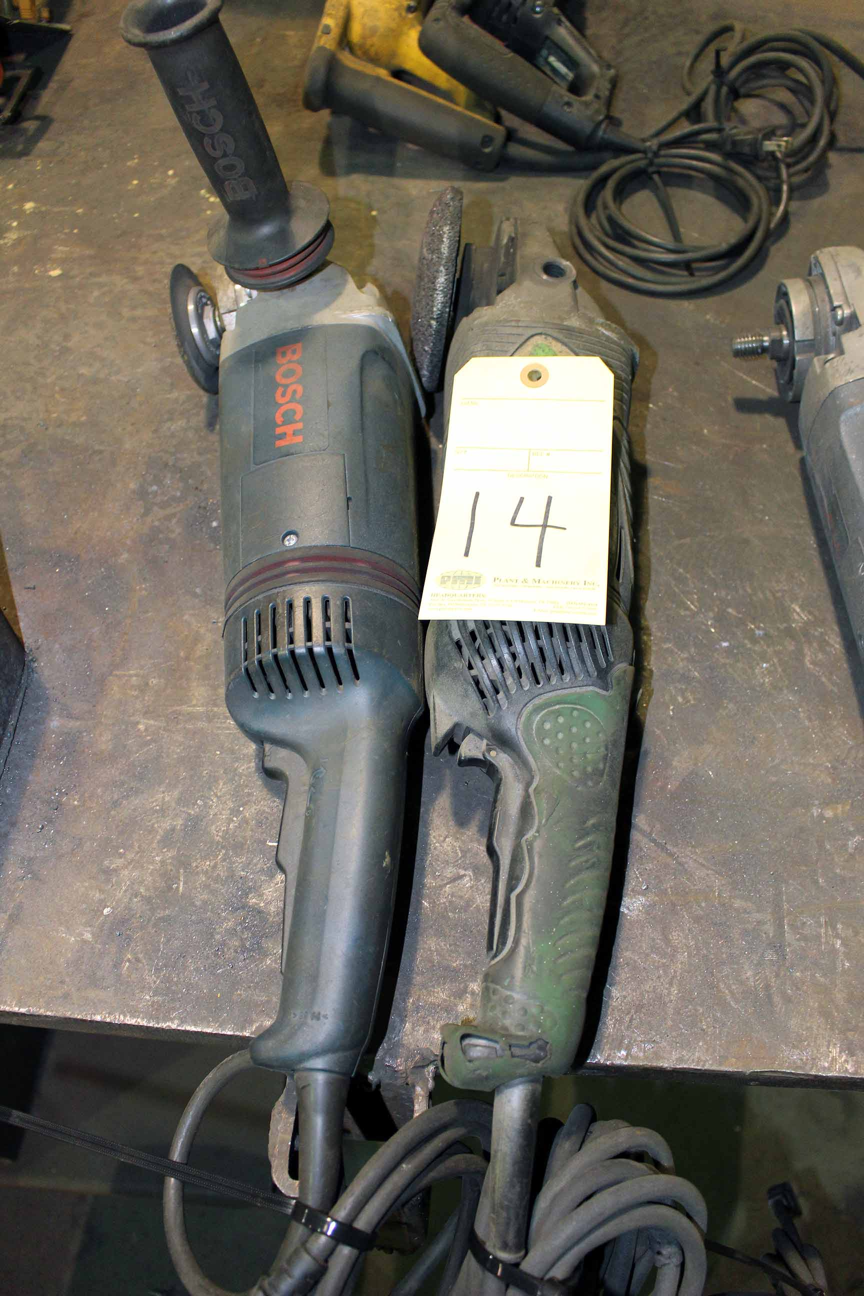 Lot 14 - LOT OF ELECTRIC ANGLE GRINDERS, 7""