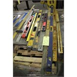 LOT CONSISTING OF: rulers, squars, straight edges