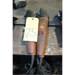 Lot 25 - LOT OF ELECTRIC ANGLE GRINDERS, 4""