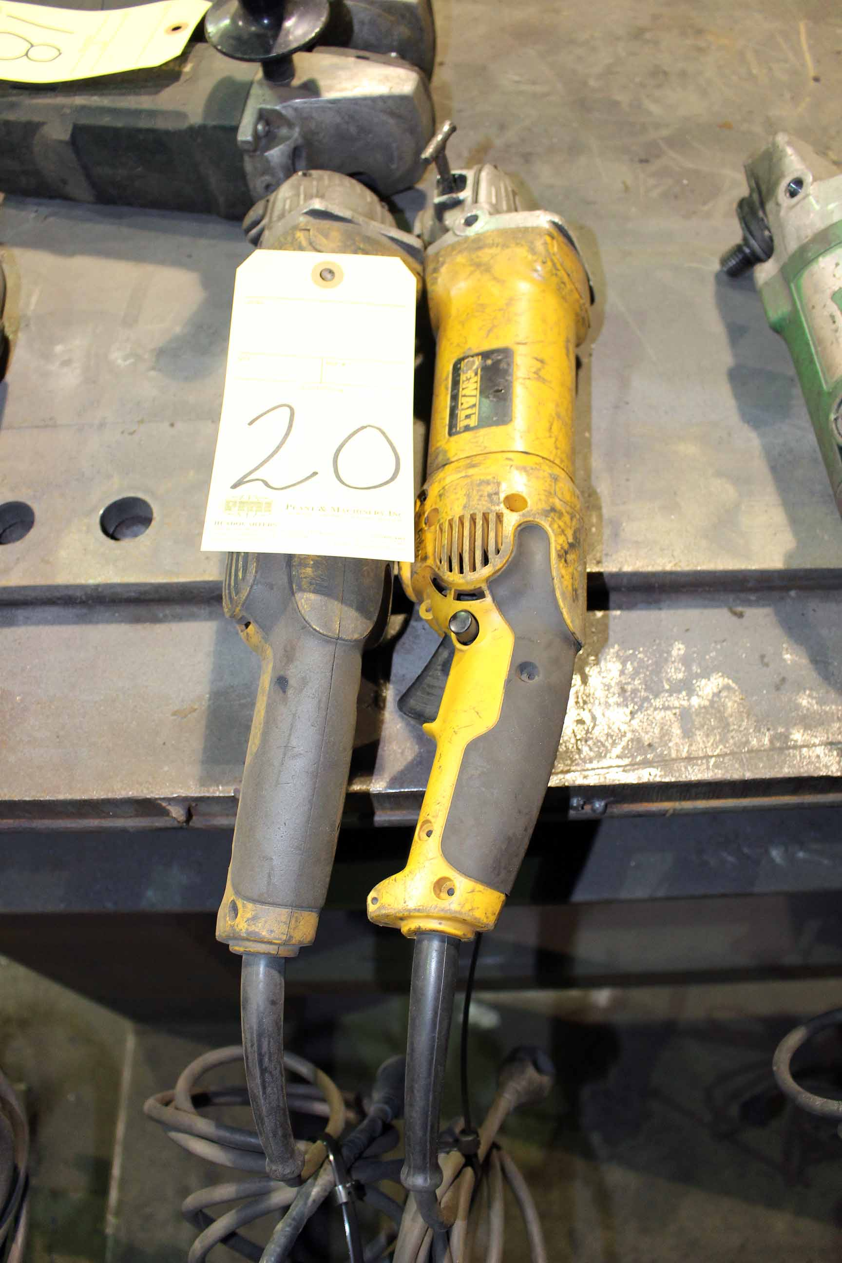 Lot 20 - LOT OF ELECTRIC ANGLE GRINDERS, 4""