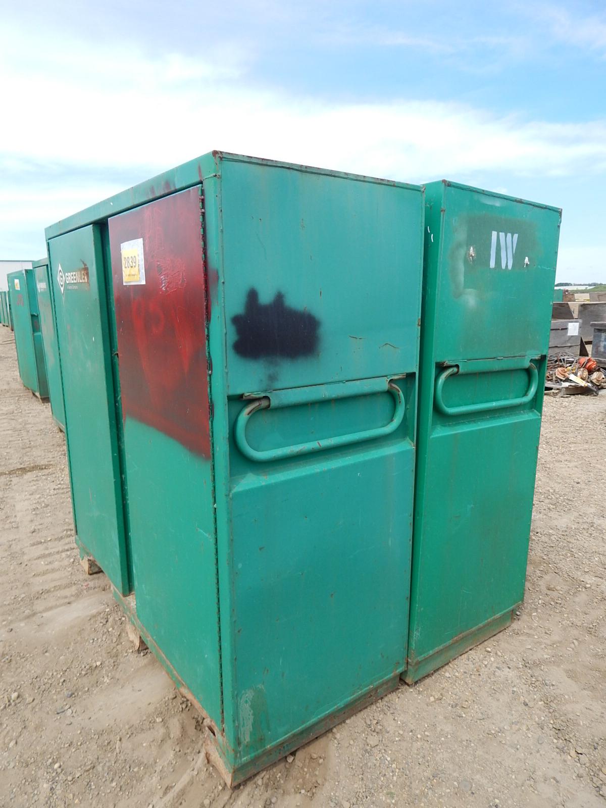 LOT/ (2) GREENLEE 2-DOOR JOB BOX CABINETS - Image 2 of 4