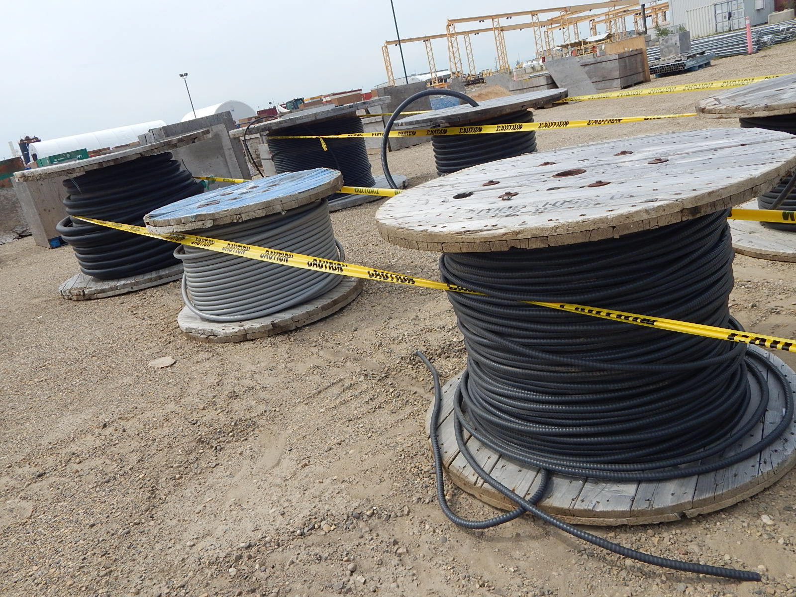 LOT/ REELS OF ASSORTED ELECTRICAL CABLE - Image 3 of 3