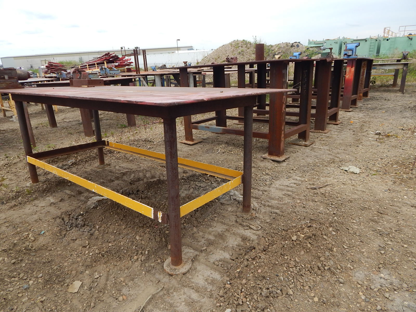 LOT/ STEEL WORK TABLES - Image 2 of 2