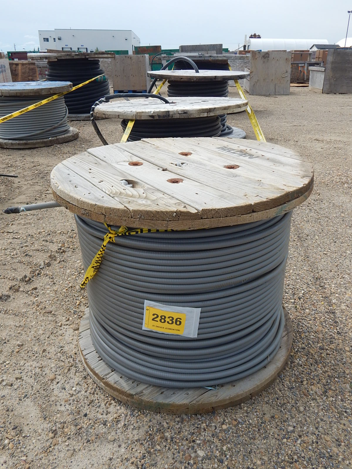 LOT/ REELS OF ASSORTED ELECTRICAL CABLE