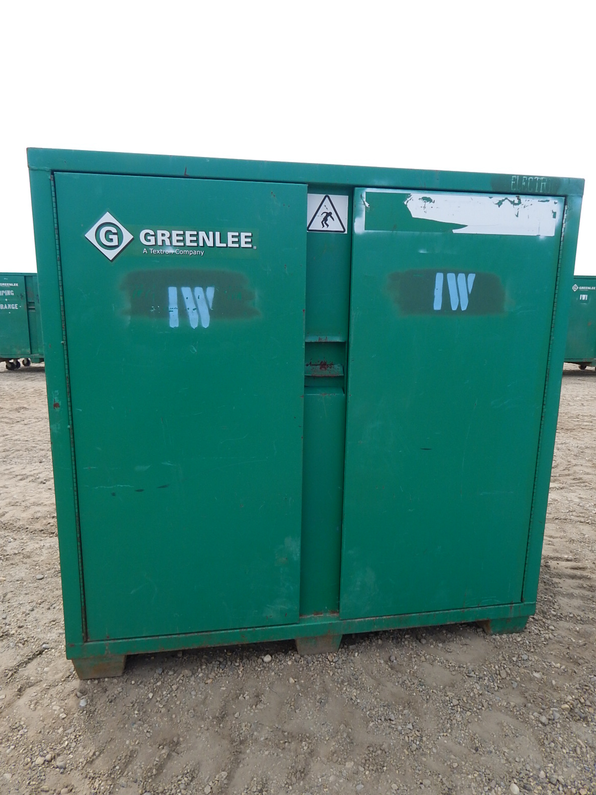 LOT/ (2) GREENLEE 2-DOOR JOB BOX CABINETS - Image 3 of 4