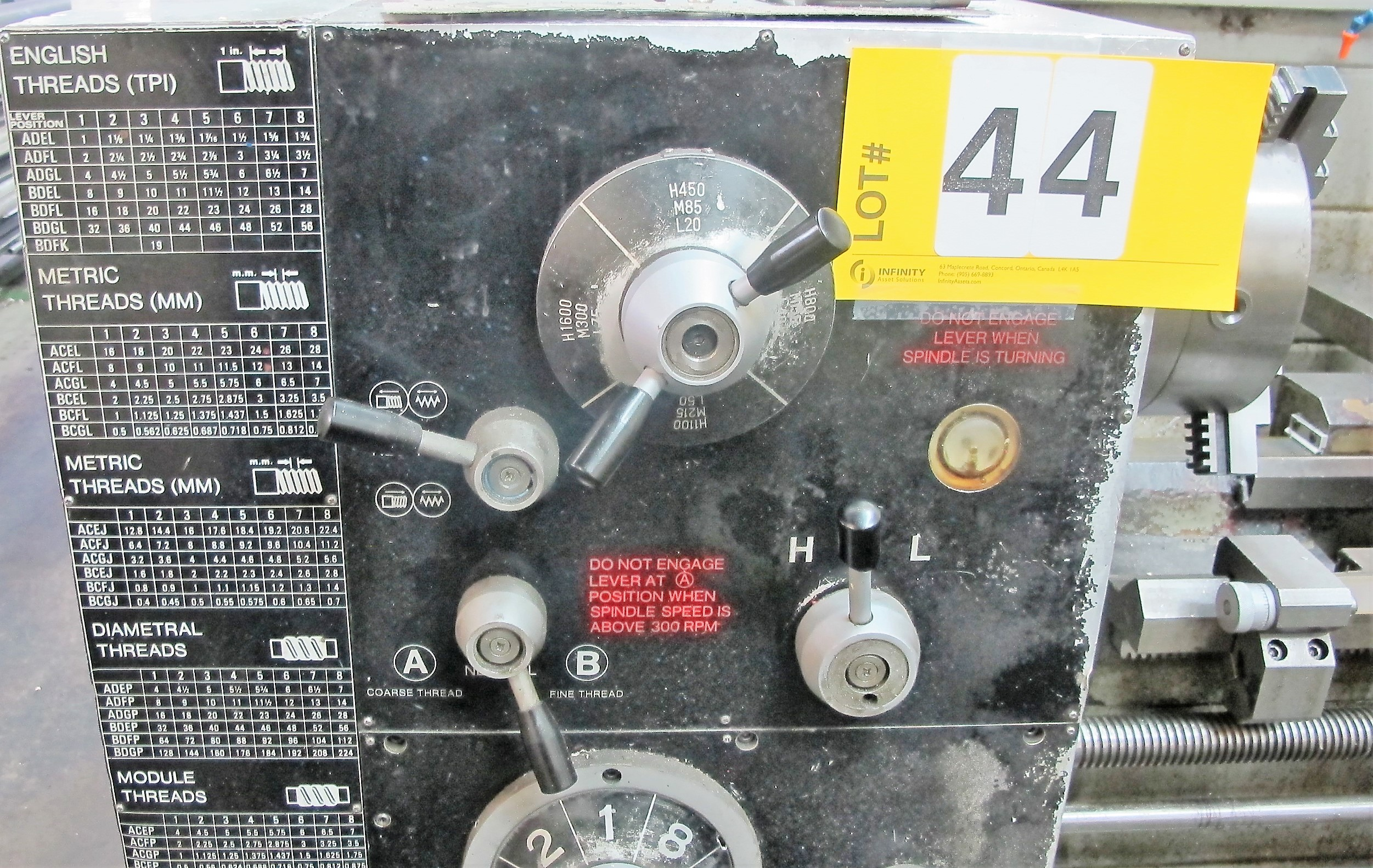 """Lot 44 - ACRA TURN 1764T, 3 PHASE LATHE W/64"""" X 17"""" BED, 10"""" 3 JAW CHUCK, 18"""" SWING X 64"""" BETWEEN CENTERS,"""