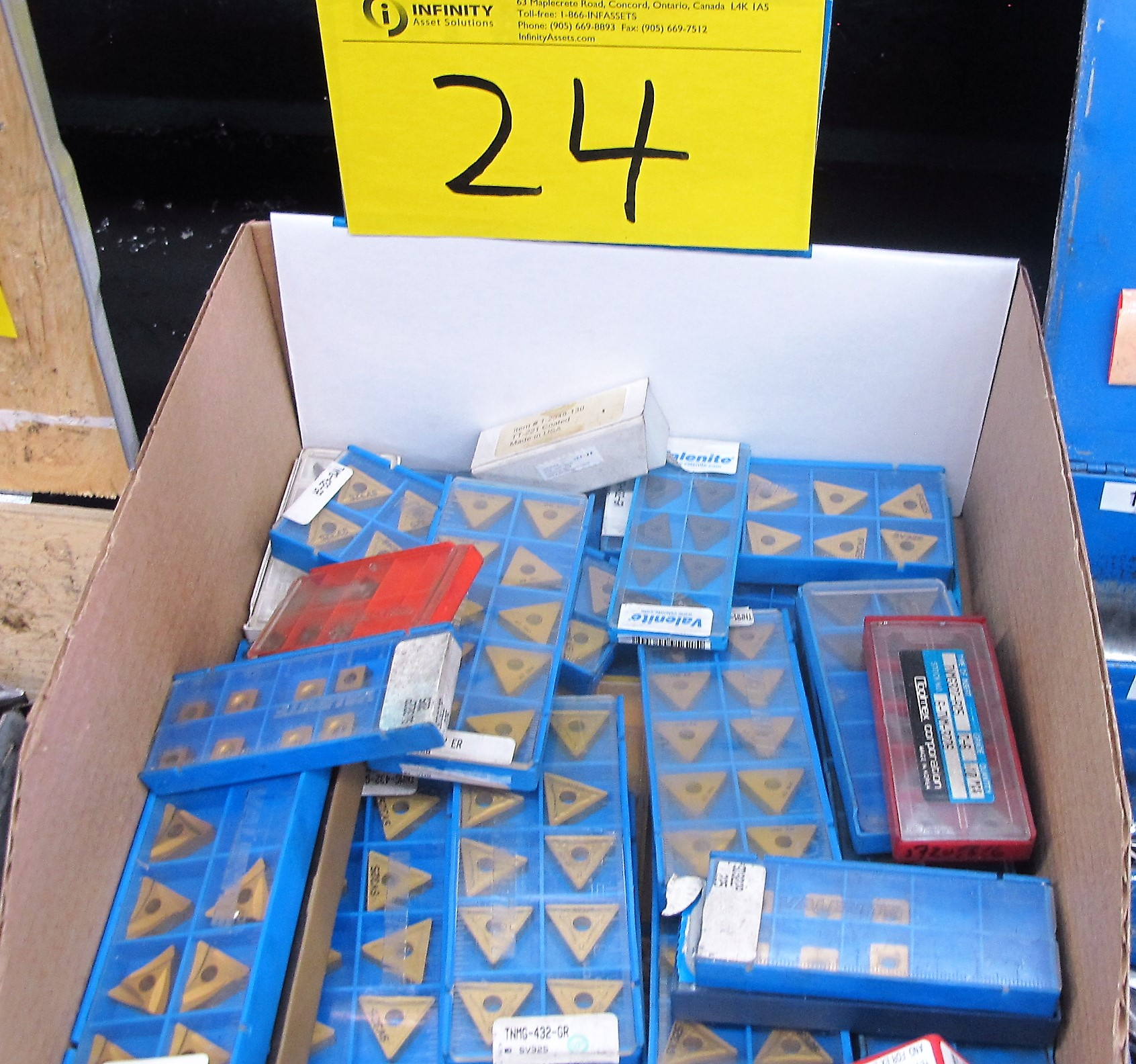 Lot 24 - VALENTINE CARBIDE BITS (1 BOX)