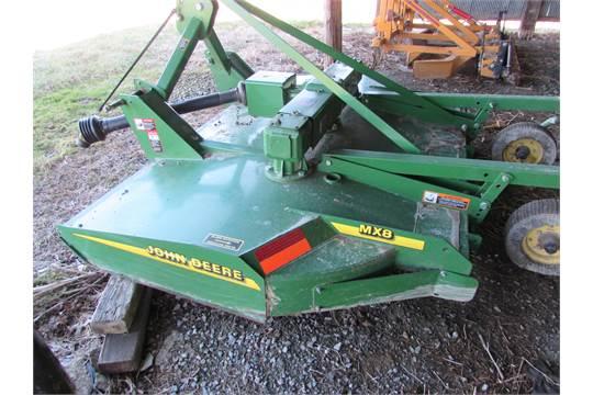 John Deere MX8 rotary mower, 3pt , chain guards, stump jumpers, 540
