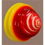 ADAM PAXON (born 1972); a spinning brooch, acrylic, made 1999, diameter 5.5cm.  Provenance:
