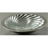 ALEX BROGDEN (born 1954); a hallmarked double skinned silver 'Meteor' footed bowl, fluted with