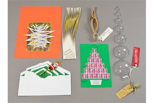 Addressed Christmas Cards.Thomas Heatherwick Born 1970 Seven Handmade Christmas