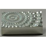 ALEX BROGDEN (born 1954); a hallmarked silver 'Quake' rectangular box, fluted with wavy lines in the
