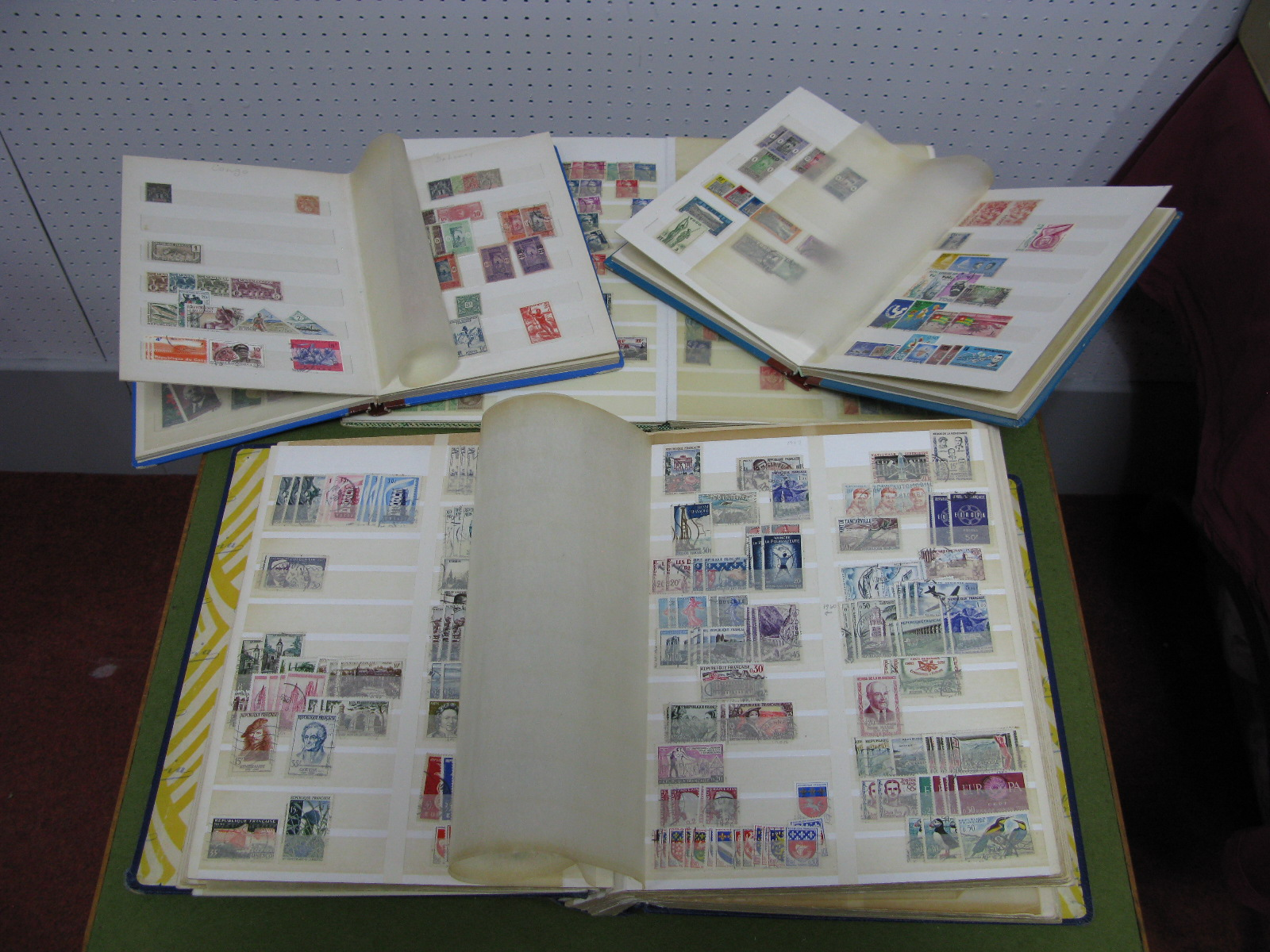Lot 25 - A Used Collection of French and French Colonial Stamps, in four stockbooks, duplicated from early