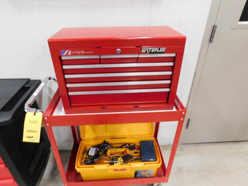 LOT: (2) Tool Boxes on Rolling Carts with Assorted Hand Tools