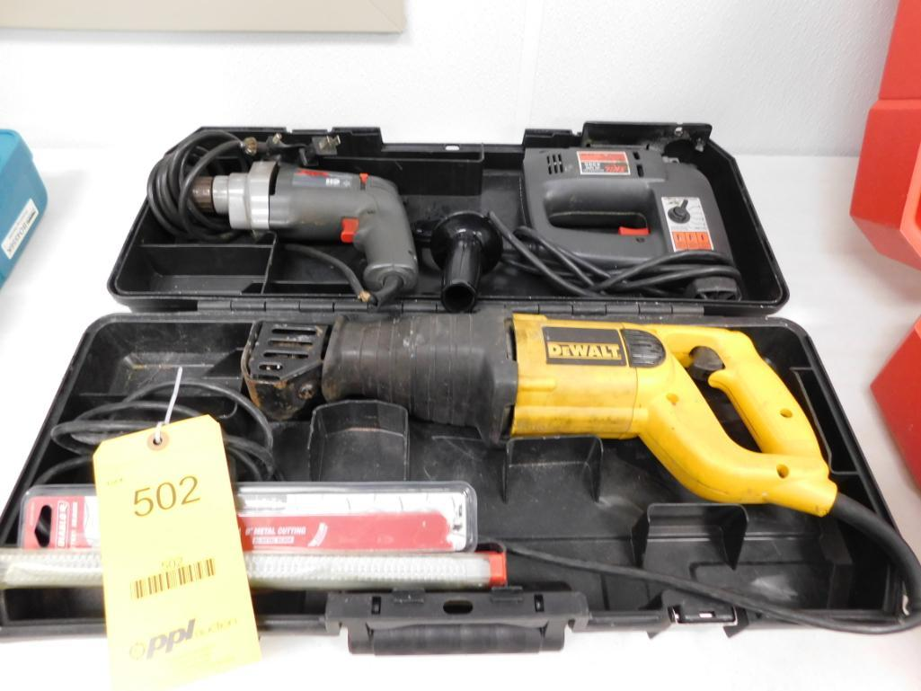 LOT: Reciprocating Saw, Drill, Jig Saw