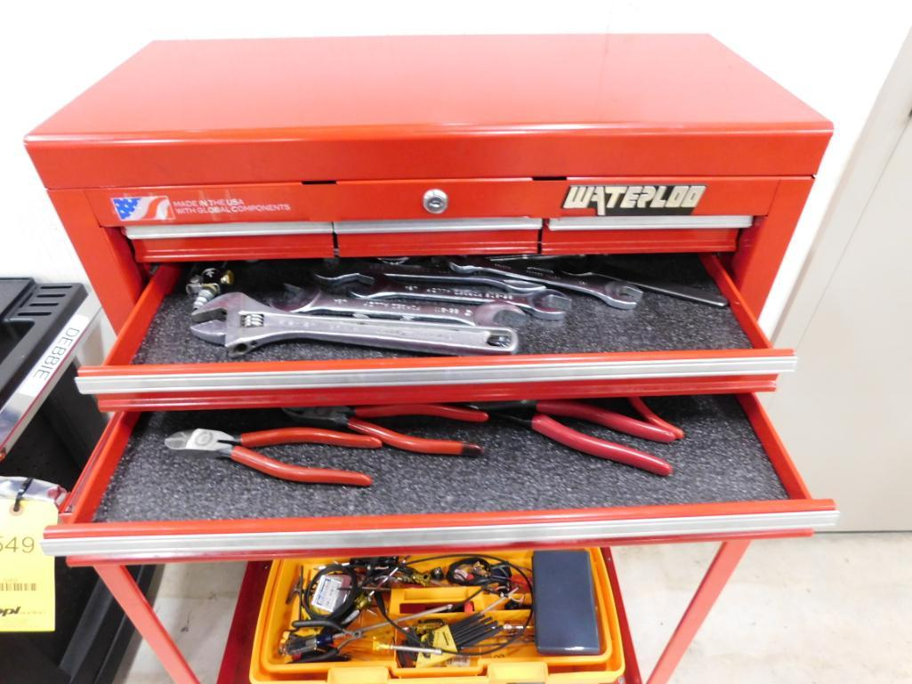 LOT: (2) Tool Boxes on Rolling Carts with Assorted Hand Tools - Image 2 of 2