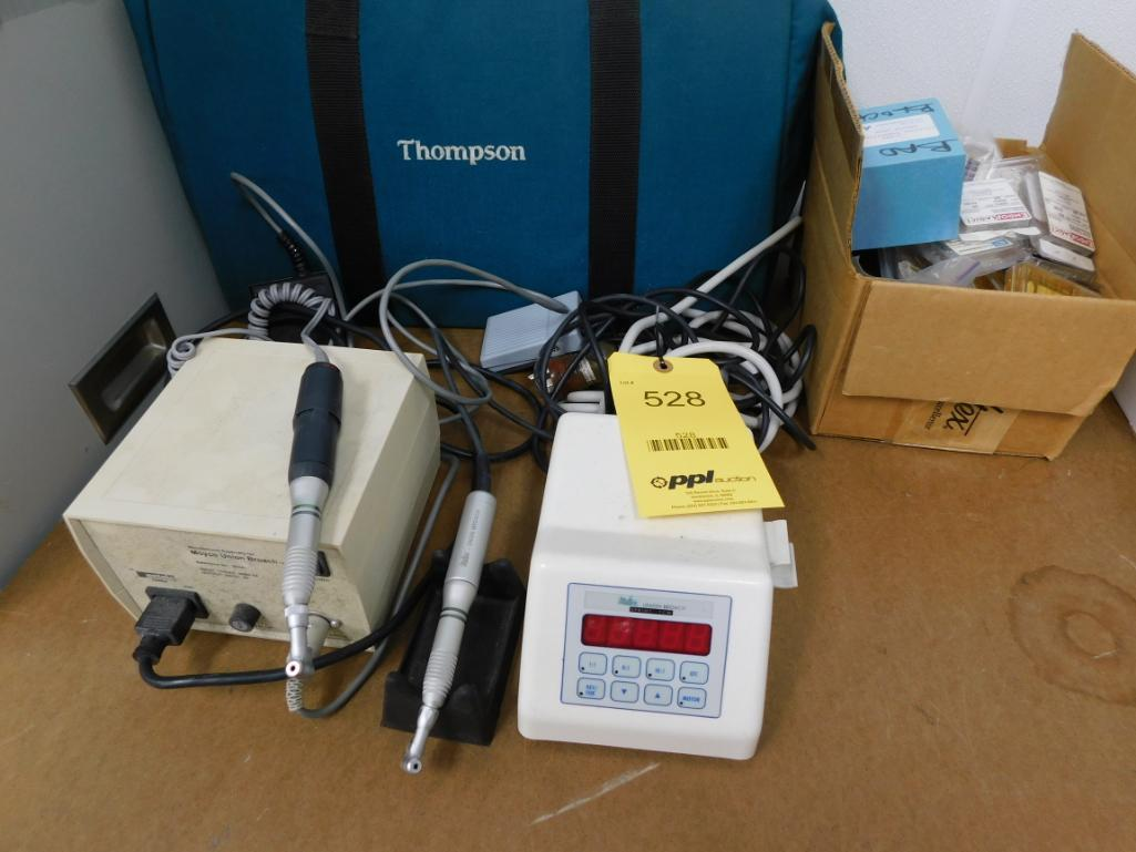 LOT: (2) Dental Drills, with Power Sources & Accessories