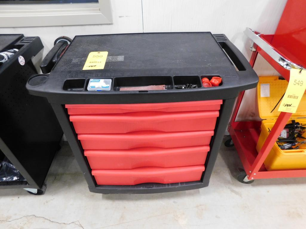 LOT: Rolling Tool Box with Hand Tools