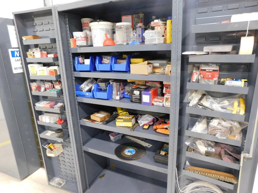 LOT: Heavy Duty Lockable Steel Cabinet with Contents of Assorted Tools, Hardware, etc. - Image 2 of 2