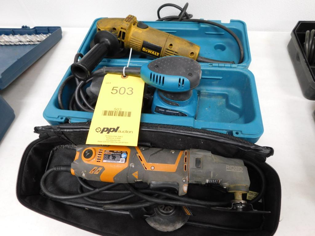 LOT: Multi-Tool, Grinder, Sander