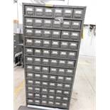 LOT: Steel Index Cabinet with Quantity of Fittings, Fasteners & Hardware