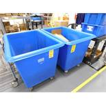 LOT: (2) Uline Rolling Trash Bins