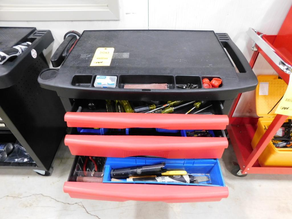 LOT: Rolling Tool Box with Hand Tools - Image 2 of 4