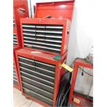 LOT: Rolling Tool Chest with Assorted Tools & Machine Parts