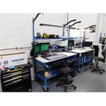 Global 30 in. x 60 in. Rolling Work Station with Overhead Light