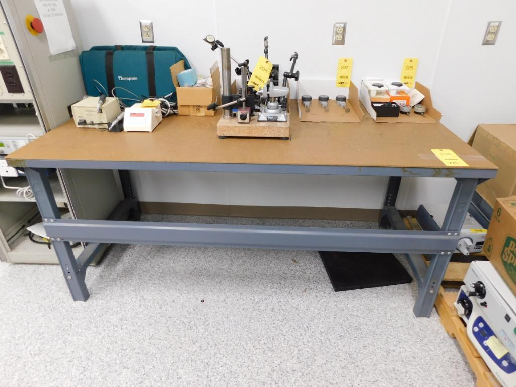 Lot 536 - 36 in. x 72 in. Steel Work Bench (delay removal)
