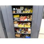 LOT: Steel Cabinet with Contents of Pneumatic & Hydraulic Parts & Accessories
