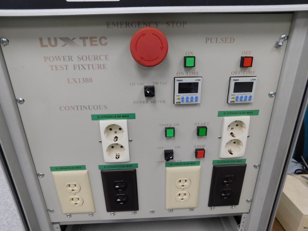 Luxtec Power Source Test Fixture Model LX1380, with California Instruments 1251RP Voltage & - Image 2 of 3