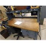 30 in. x 60 in. Maple Top Work Bench, with 4 in. Vise
