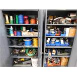LOT: (2) Steel Cabinets with Contents of Wire, Breakers, Electrical Supplies