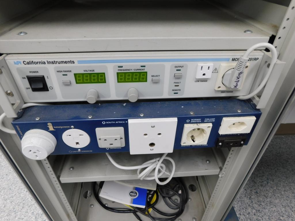Luxtec Power Source Test Fixture Model LX1380, with California Instruments 1251RP Voltage & - Image 3 of 3