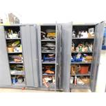 LOT: (3) Steel Cabinets with Contents of Tubing, Hose, Lubricants, Electrical Supplies