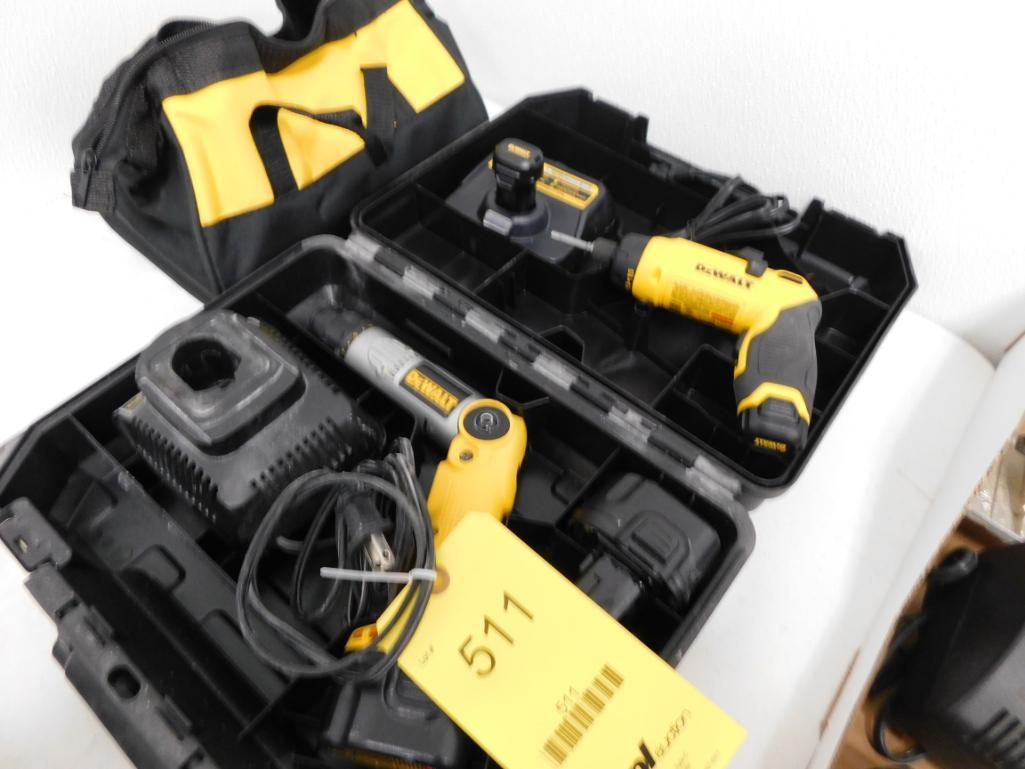 Lot 511 - LOT: (2) Dewalt Drills, with Batteries & Chargers