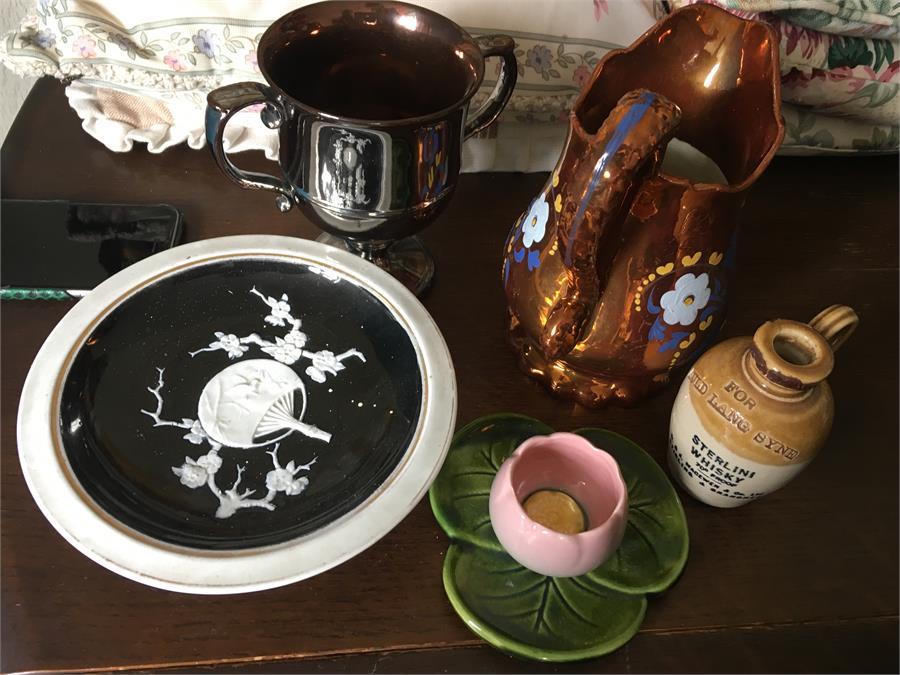 Lot 9 - Selection various ceramics inc. Ashworth's tazza