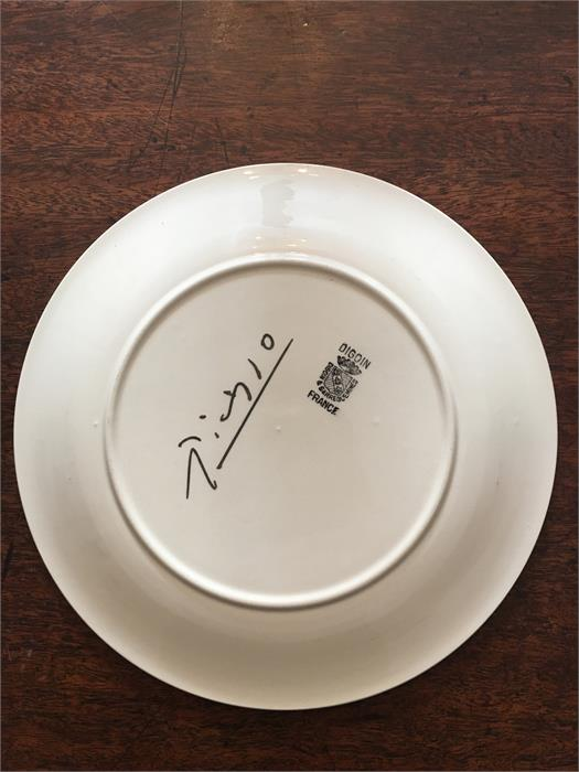Lot 22 - Diogin & Sarreguemines Picasso plate