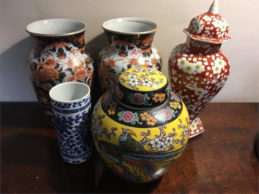 Lot 52 - Five various 19th & 20th c oriental vases