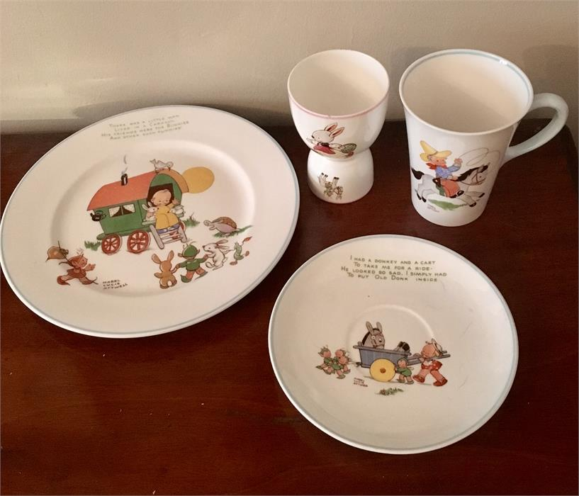 Lot 39 - Four items Nursery Ware from Shelley ex. John Heron