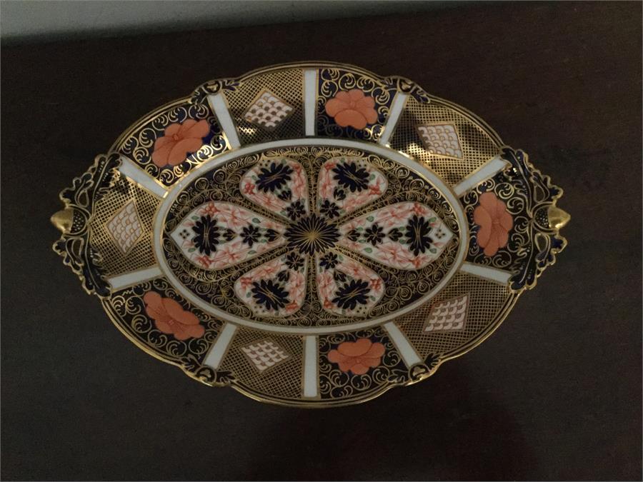 Lot 8 - Royal Crown Derby imari pattern dish 30cms wide