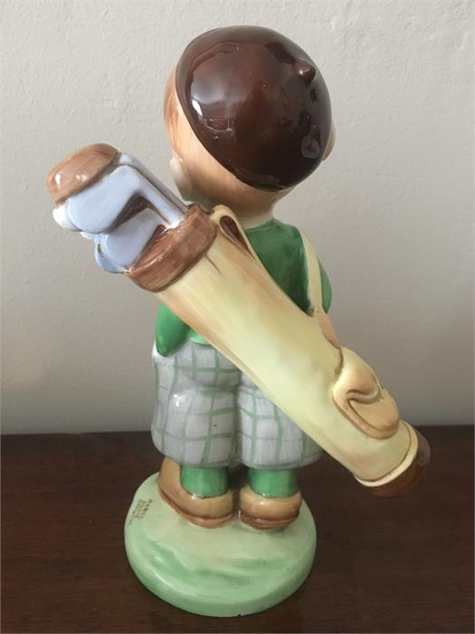 """Lot 28 - Shelley pottery figure """"The Golfer"""" unusual colourway. Jack Heron coll."""