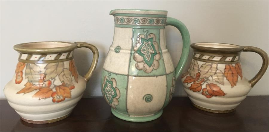 Lot 3 - Three pieces Charlotte Rhead pottery