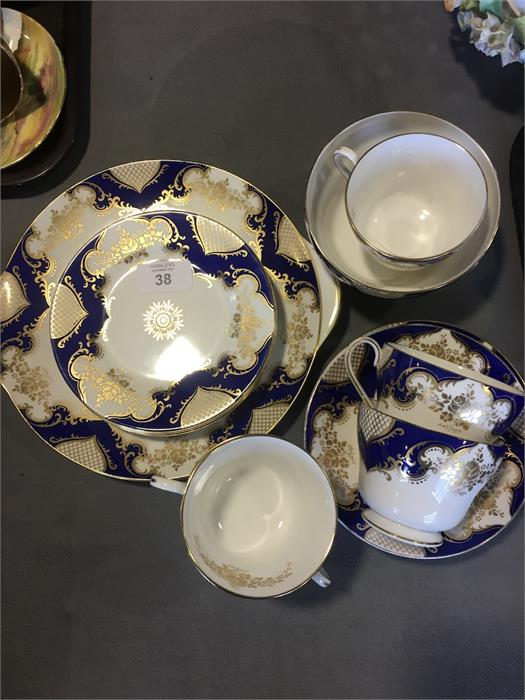 Lot 38 - Shelley Classic part tea service one cup cracked