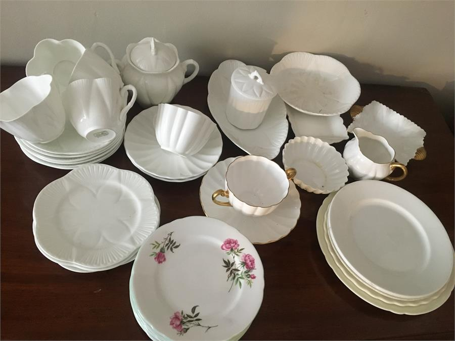 Lot 23 - Selection Shelley China inc. part white tea service etc 37 pieces