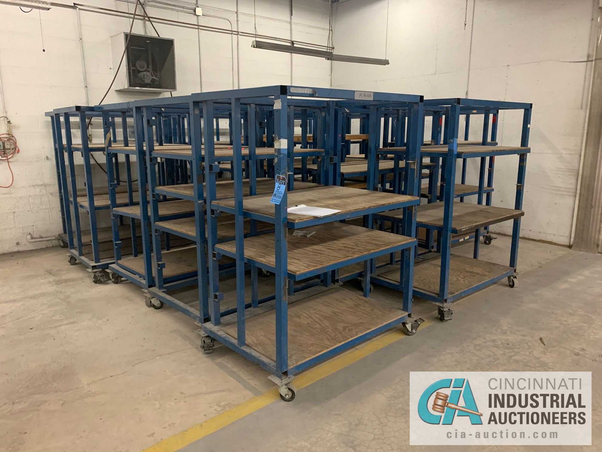 3' X 4' X 6' HIGH APPROX. MULTI-SHELF CARTS